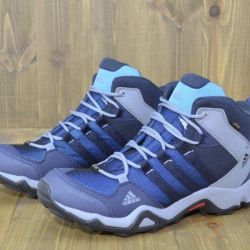 Adidas AX2 mid GTX γκρι / μπλε μπότες