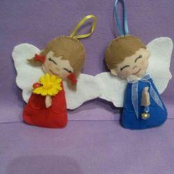 Hediye olarak melekler Yeni Yıl Hediyeleri.
