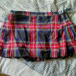 School skirt kilt