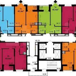 Apartment, 1 room, 44.7 m²