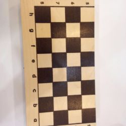 Checkers wooden with board