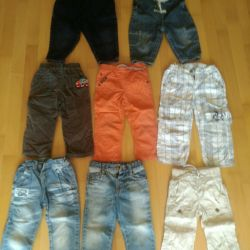 Package of things Jeans, pants, overalls 86-92