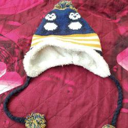 Καπέλο χειμώνα για ένα αγόρι 1-2g.