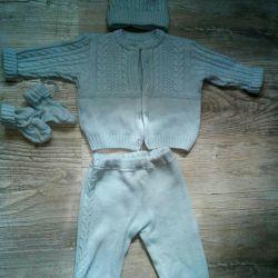 Вязаный костюм р. 68