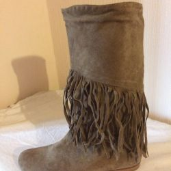 Boots suede spring-autumn Italy