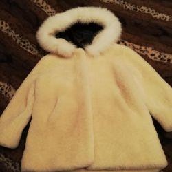 Fur coat for girl.