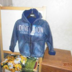 New with tags denim jacket on fleece