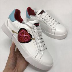 Pantofi de culoare albă Dolce Gabbana