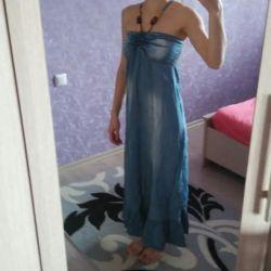 Dress denim in the floor
