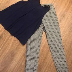 Clothing set: top mango zolla pants