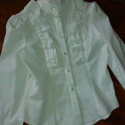 Блузы белые нарядные (128,134)