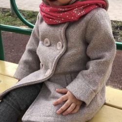 Bebek için şık şık ceket 1 kez giyinmiş