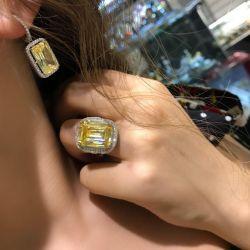 Cercei și inel Graff argint 925 *