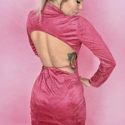 New dress suede with bare back