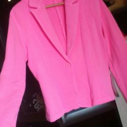 Яркий розовый пиджак by s'Oliver(46-48)