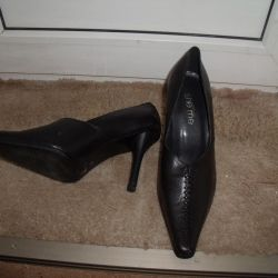 Stylish leather shoes p37 new, exchange