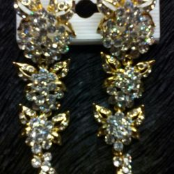 Earrings with Swarovski stones are new.