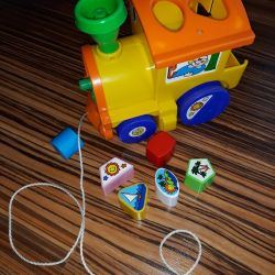 Toy wheel train