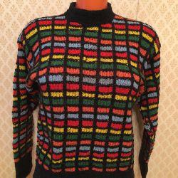 Pulover cald lână mână-tricot n / o / g-47cm