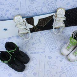 Burton Troop 146 cm snowboard + bindings + boots