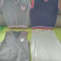 Waistcoat for schoolboy 1-5 grade.