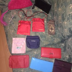 Cosmetic bags wallets clutches covers
