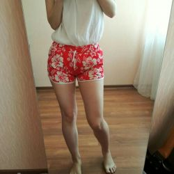Summer red shorts