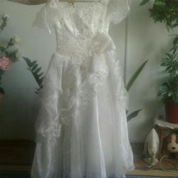 Dress 7 8 years elegant lacing at the joint 113cm height