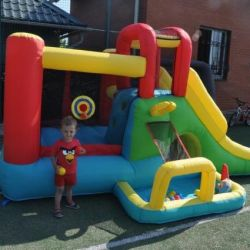 Inflatable trampoline for home or street