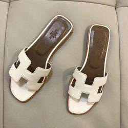 Terlik Hermès beyaz takımı