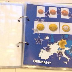Album for coins of the European Union