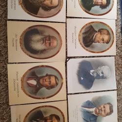 Postcards of the USSR famous people.