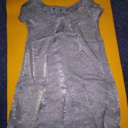 O rochie de argint A-line