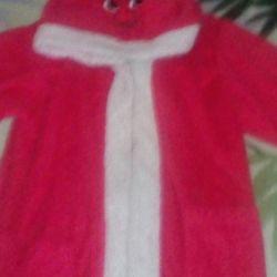 Children's soft warm dressing gown