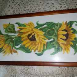 Floarea-soarelui cu cusături