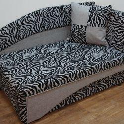 Yeni çocuk kanepe kanepe Leon Zebra Gri