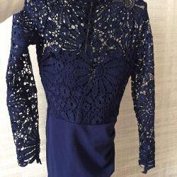 Bir tunik gibi giymek için moda yeni elbise.