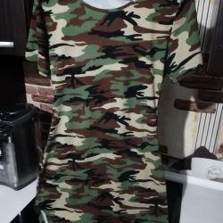 Rochie cool, tunică în stil militar