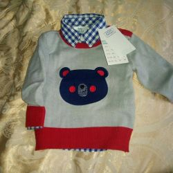 New! Shirt and sweater 3-6 months