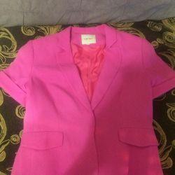 Jacket crimson elegant lined