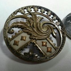 Old metal button.