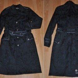 Чeрное стeганое пальто Oggi