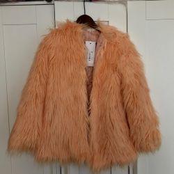 Stylish Artificial Fur Coat New S