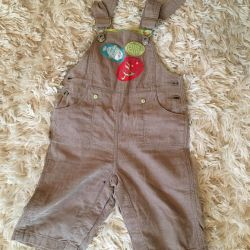 Overalls shorts 6-9 months