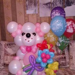 Figures from balls. Teddy bear
