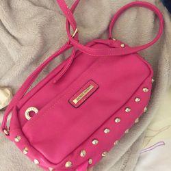 Розовый клатч сумочка