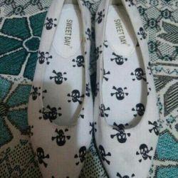 Туфли балетки модные женские