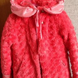 Шикарное пальто на 7-9 лет