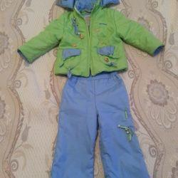 Demi-season suit, used Lemming