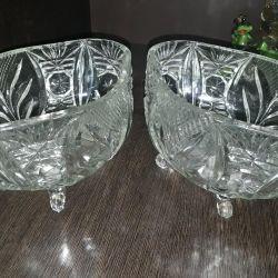 Salad bowls, glass